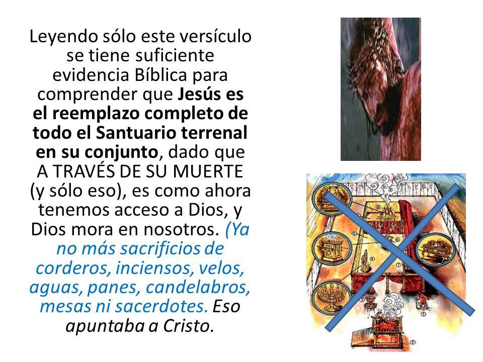 Así que, hermanos, teniendo libertad para entrar en el Lugar Santísimo por la sangre de Jesucristo, Hebreos 10:19 En este sentido la Biblia es muy clara.