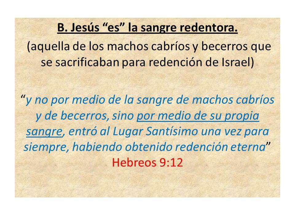 C.Jesús es el sacrificio continuo.