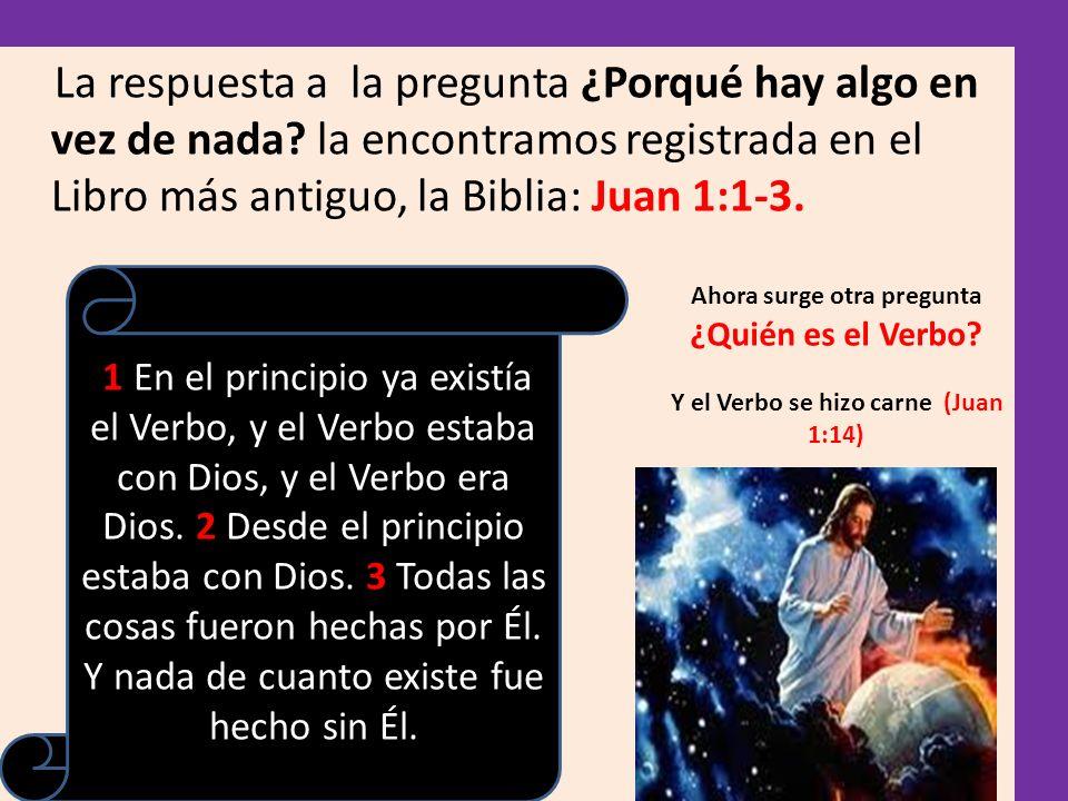 Note lo que dice los versos 1 y 2, En el creo principio, ya existía Dios, es decir desde la eternidad, pero no existía nada, solo Dios.
