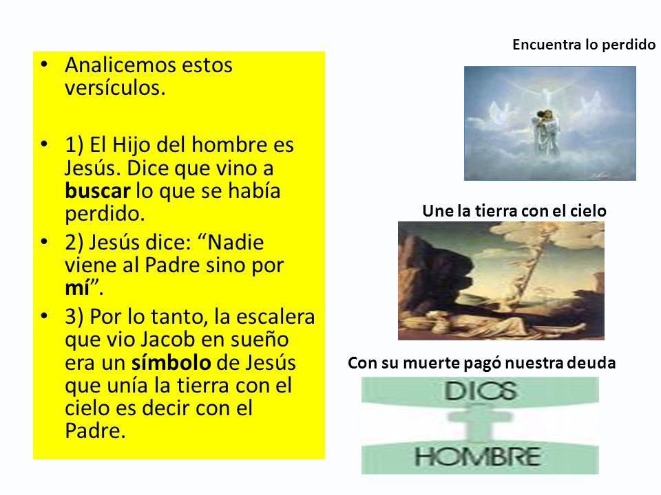 Encuentra lo perdido Analicemos estos versículos. 1) El Hijo del hombre es Jesús. Dice que vino a buscar lo que se había perdido. 2) Jesús dice: Nadie