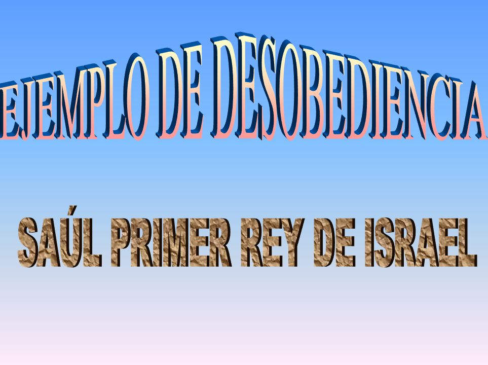 Pero Saúl razonó que tenía el privilegio de decidir como había de realizarse la orden divina.