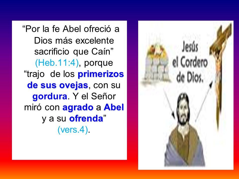primerizos de sus ovejas agrado a Abel ofrenda Por la fe Abel ofreció a Dios más excelente sacrificio que Caín (Heb.11:4), porque trajo de los primeri