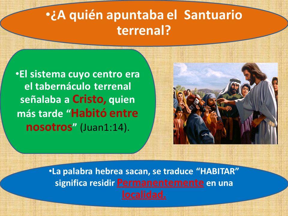 El sistema cuyo centro era el tabernáculo terrenal señalaba a Cristo, quien más tarde Habitó entre nosotros (Juan1:14). ¿A quién apuntaba el Santuario