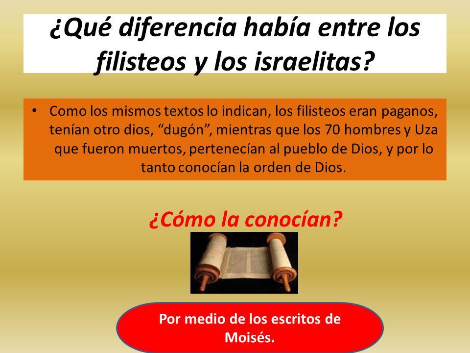 ¿Qué diferencia había entre los filisteos y los israelitas? Como los mismos textos lo indican, los filisteos eran paganos, tenían otro dios, dugón, mi