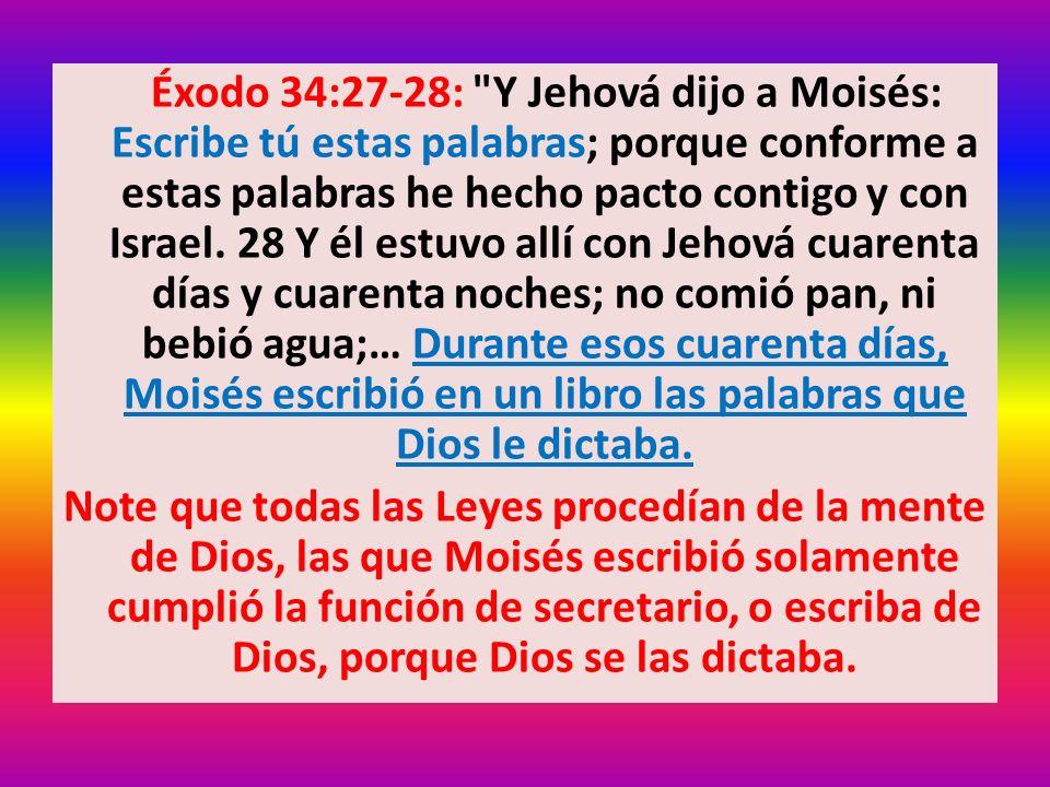 Éxodo 34:27-28: