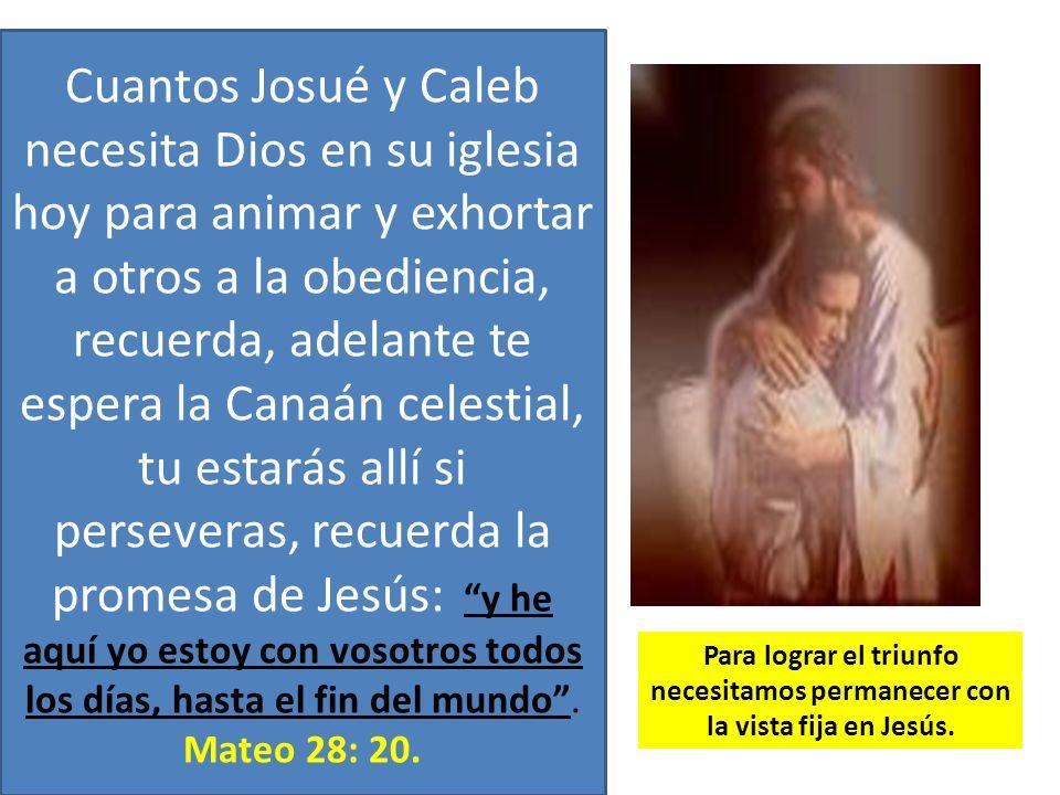 Cuantos Josué y Caleb necesita Dios en su iglesia hoy para animar y exhortar a otros a la obediencia, recuerda, adelante te espera la Canaán celestial