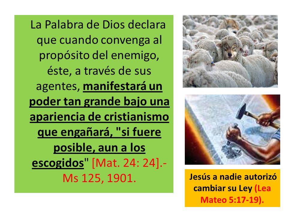 La Palabra de Dios declara que cuando convenga al propósito del enemigo, éste, a través de sus agentes, manifestará un poder tan grande bajo una apari