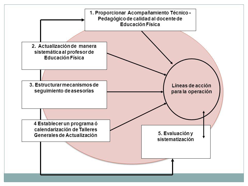 Líneas de acción para la operación 2.