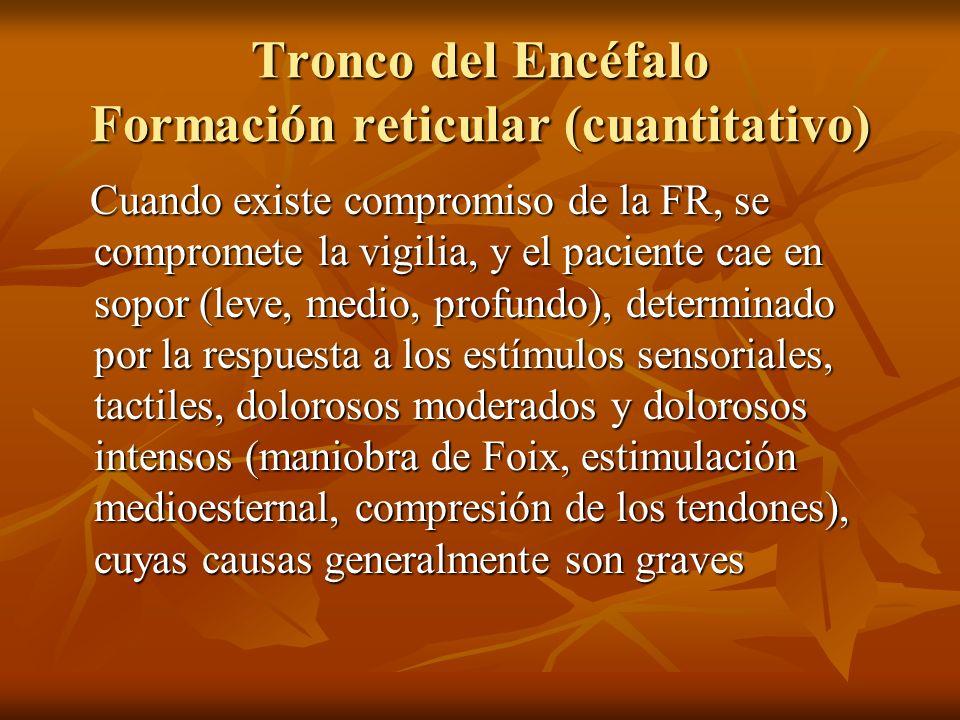 Patología de conciencia cualitativa.