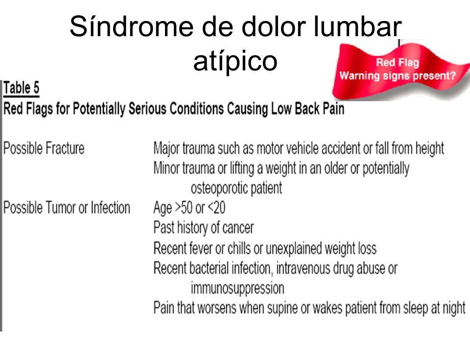 Síndrome de dolor lumbar atípico