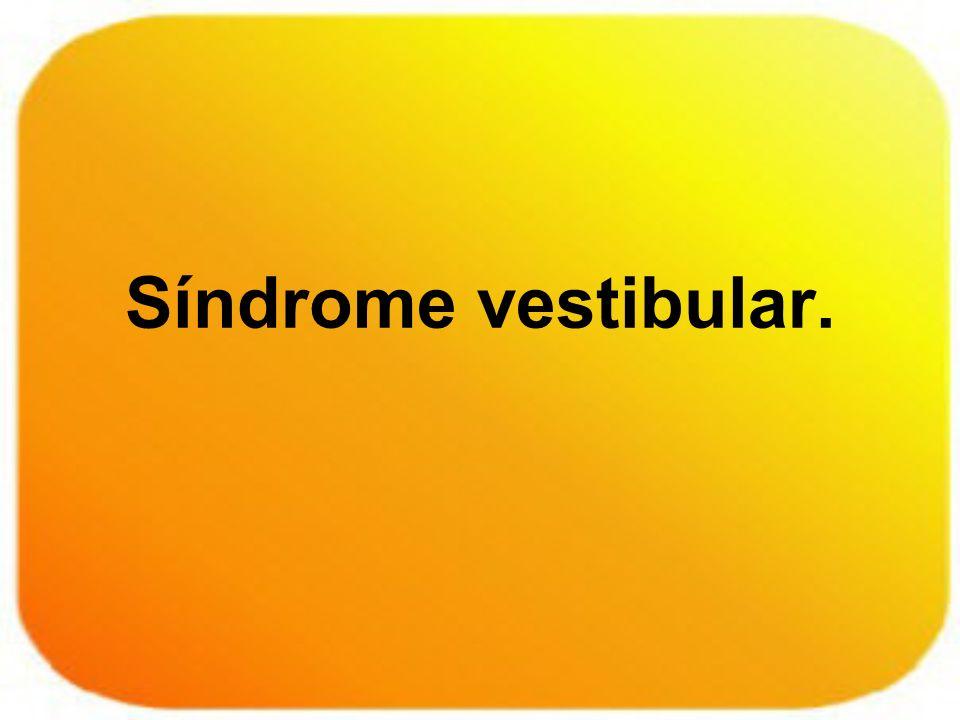 La información vestibular es modulada por el SNC a través de los reflejos vestibulo – oculares y vestibulo – espinales, para fijar la vista y mantener el tono postural.