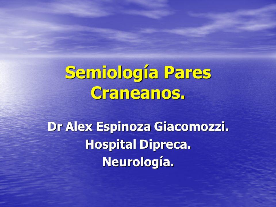Semiología Pares Craneanos. Dr Alex Espinoza Giacomozzi. Hospital Dipreca. Neurología.