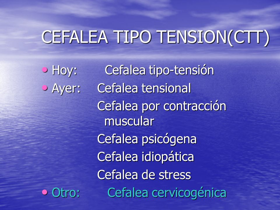 Cefalea tipo tensional Dr. Nelson Barrientos