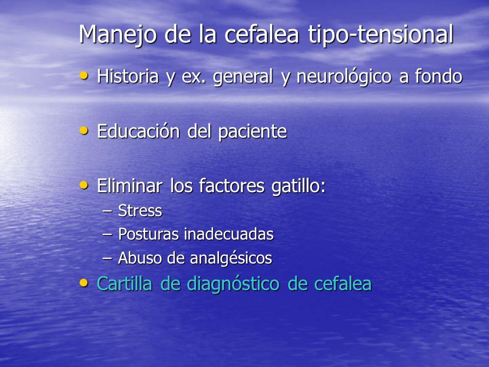 Conclusión fisiopatológica CT-T Participación de mecanismos centrales y periféricos que en las bases del dolor en general son bien conocidos, pero en
