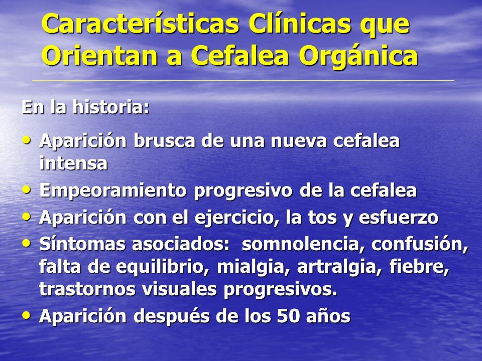 Criterios Diagnósticos Migraña con aura (HIS) A.-2Crisis que cumplan con los puntos B y C B.-Que cumpla con 3 o 4 criterios siguientes 1 o más síntom