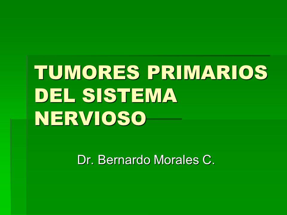 TUMORES PRIMARIOS DEL SISTEMA NERVIOSO Dr. Bernardo Morales C.