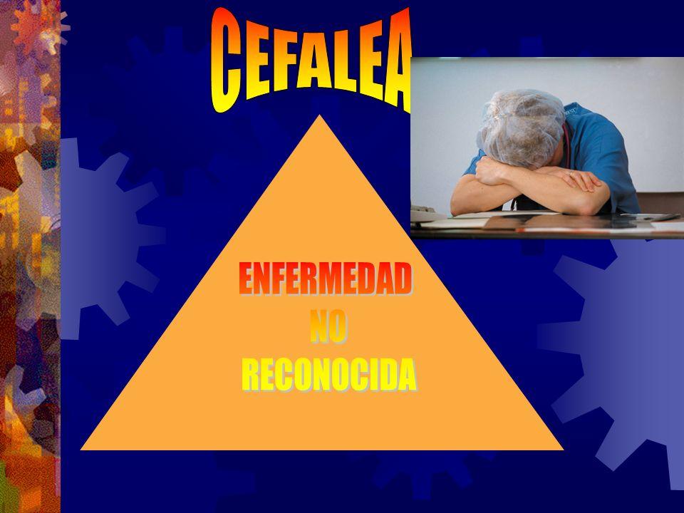 Epidemiología de la cefalea en CHILE Estudio realizado en 1385 encuestados en la región metropolitana en 1993.