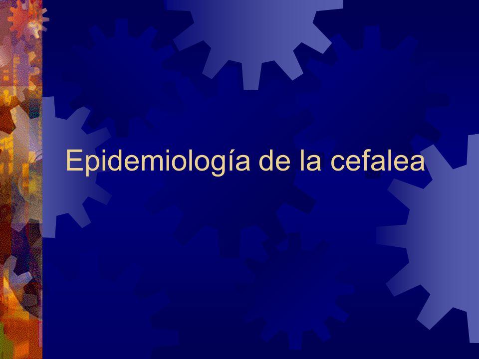 Epidemiología de la cefalea