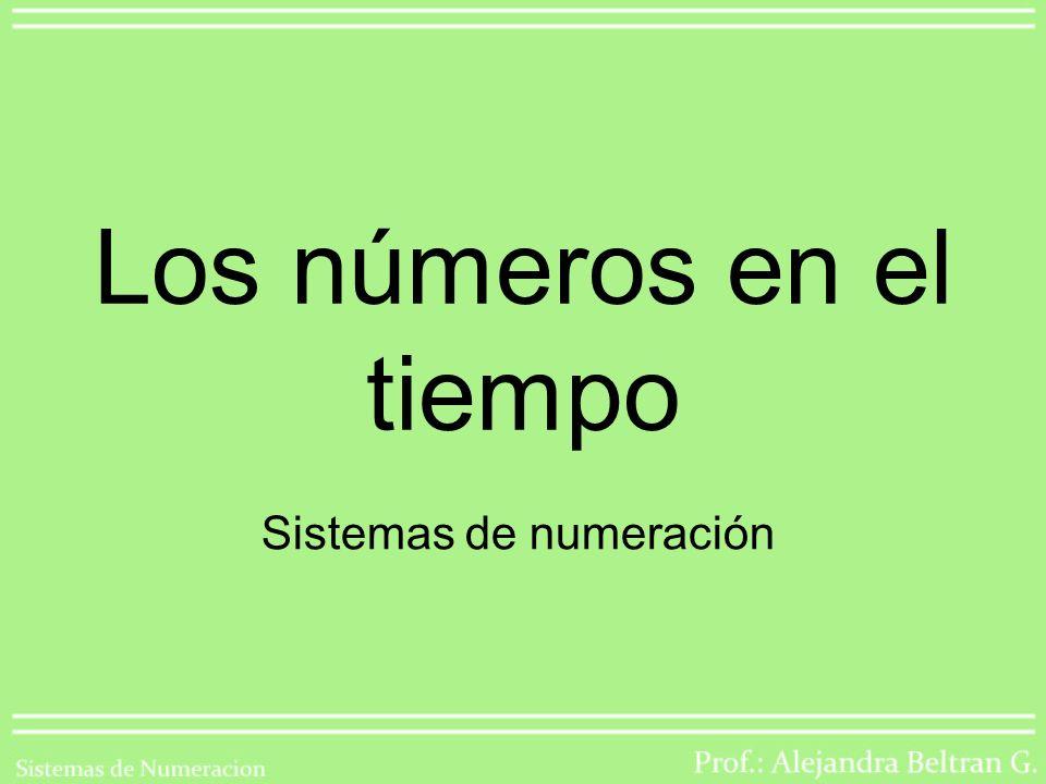 Los números en el tiempo Sistemas de numeración