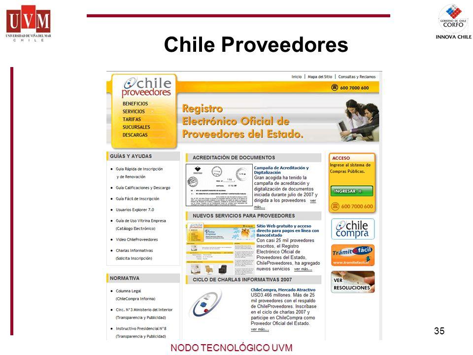 35 NODO TECNOLÓGICO UVM Chile Proveedores