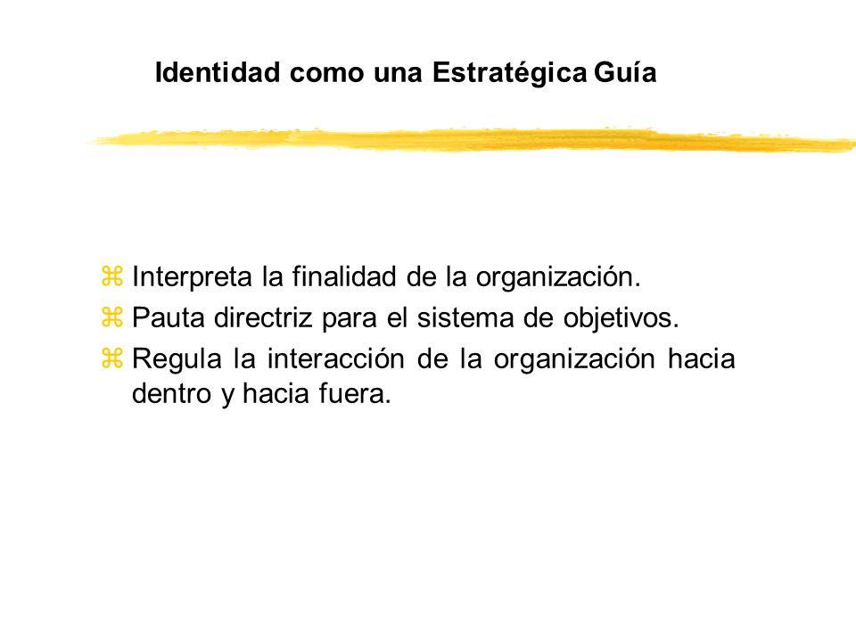 zInterpreta la finalidad de la organización. zPauta directriz para el sistema de objetivos. zRegula la interacción de la organización hacia dentro y h