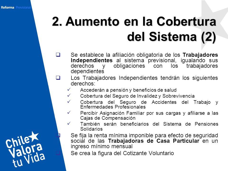 Se establece la afiliación obligatoria de los Trabajadores Independientes al sistema previsional, igualando sus derechos y obligaciones con los trabaj