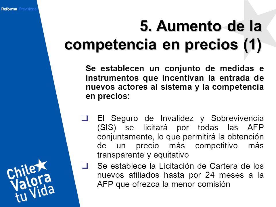 Se establecen un conjunto de medidas e instrumentos que incentivan la entrada de nuevos actores al sistema y la competencia en precios: El Seguro de I