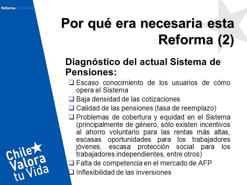 III. Principales Beneficios y Beneficiarios de la Reforma Previsional