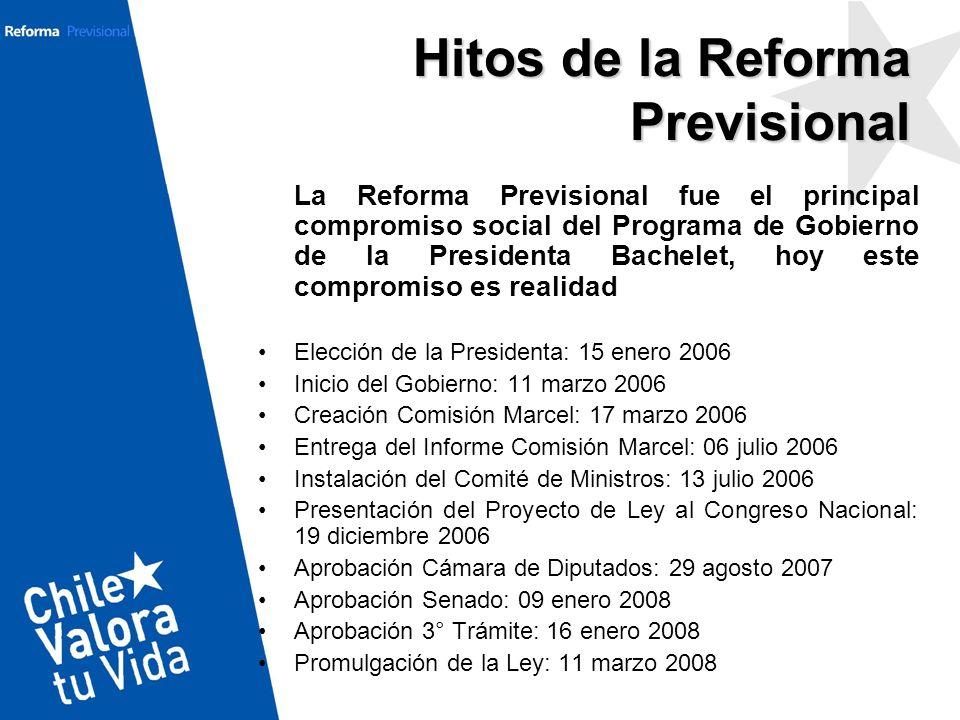 La Reforma Previsional fue el principal compromiso social del Programa de Gobierno de la Presidenta Bachelet, hoy este compromiso es realidad Elección
