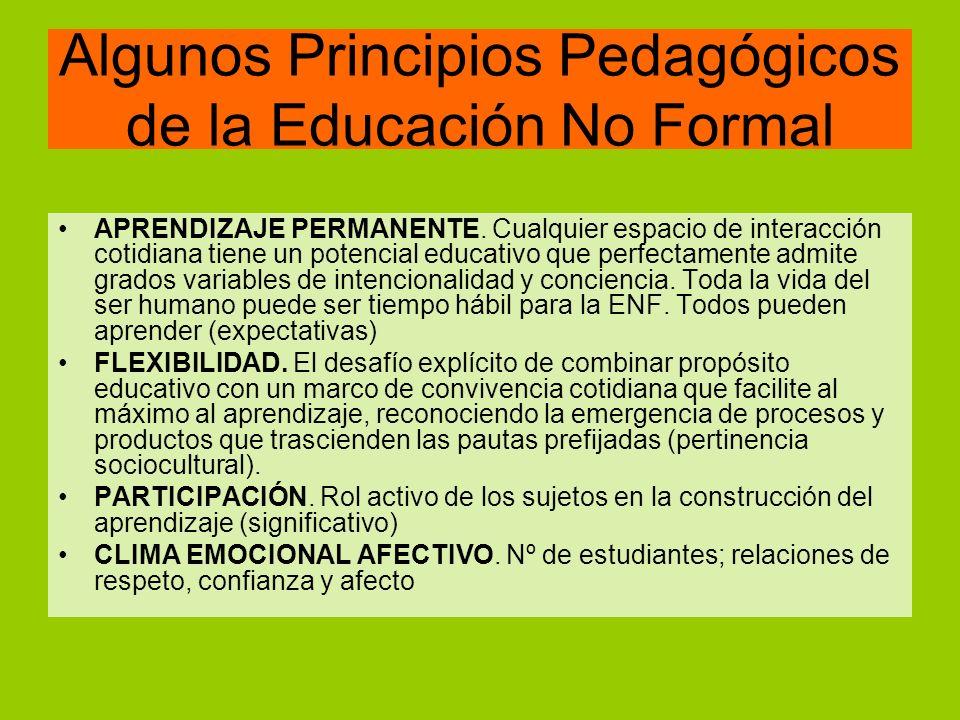 Diferencias ENF con la escuela Acciones y resultados Lo formal como fuertemente asociado al modelo presencial, a la preeminencia del profesor como poseedor del conocimiento y a la exposición frontal de contenidos.