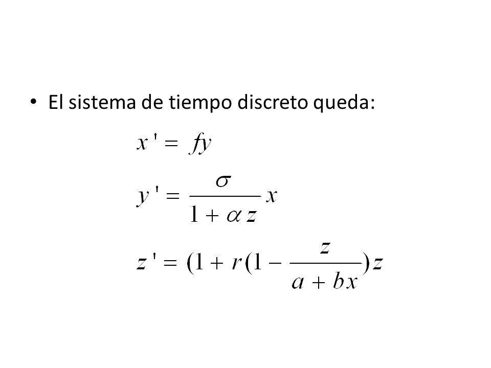 Invariancia primer octante: Puntos de equilibrio: Z = 0 (en ausencia de depredadores): (0,0,0) el punto de equilibrio trivial Si (caso singular: ) : hay una recta de equilibrio:
