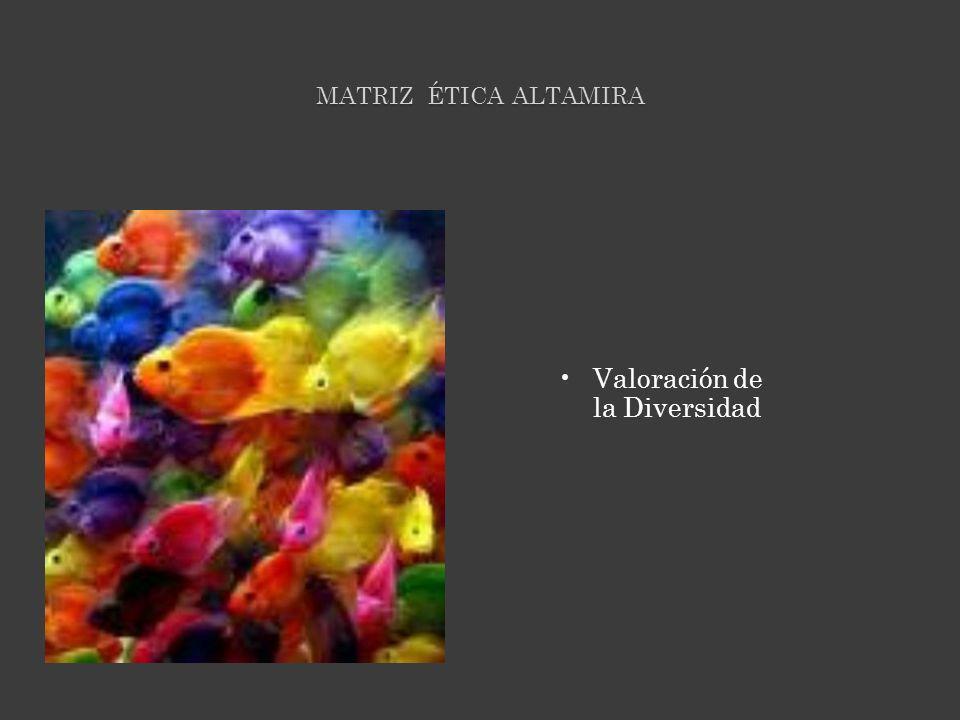 MATRIZ ÉTICA ALTAMIRA Valoración de la Diversidad