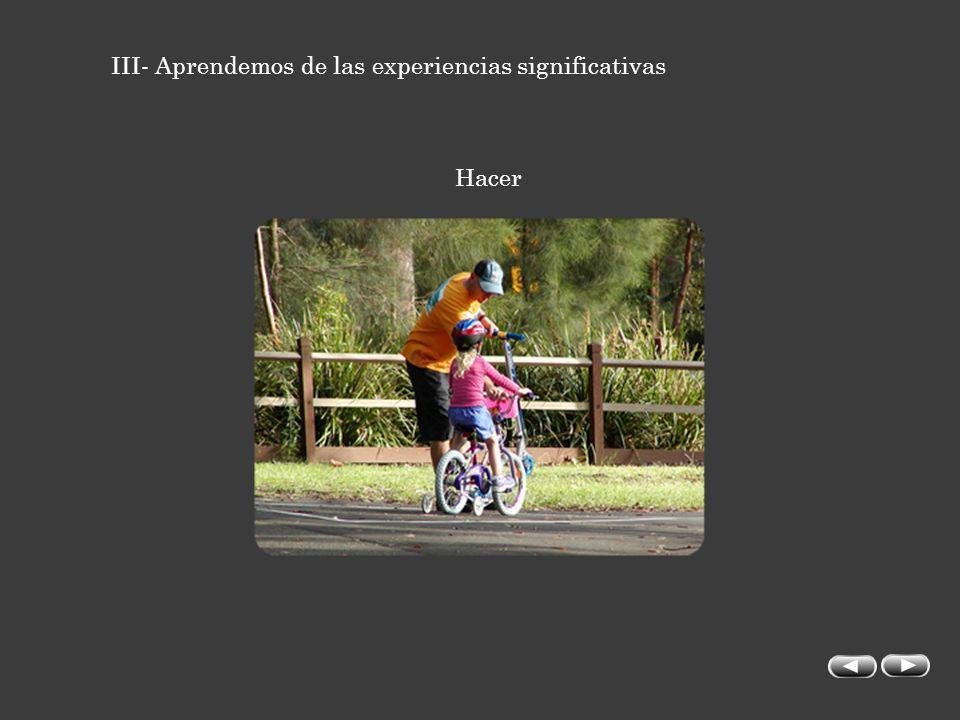 III- Aprendemos de las experiencias significativas Hacer