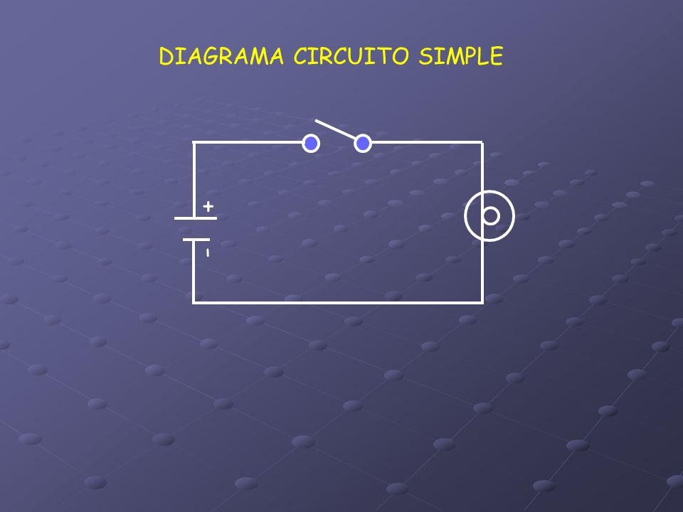 DIAGRAMA CIRCUITO SIMPLE + -
