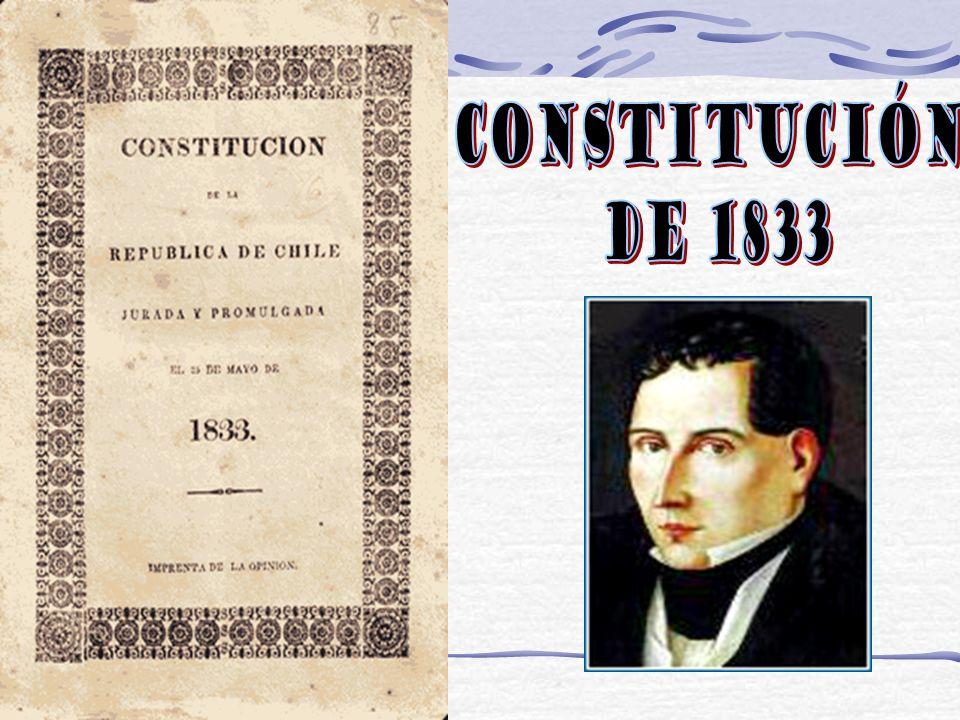 Mariano Egaña La constitución constaba de 168 artículos, agrupados en 12 capítulos.