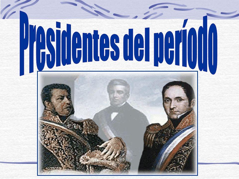 José Joaquín Prieto (1831-18 41) Contó con destacados colaboradores como Diego Portales, Manuel Rengifo (Ministro de Hacienda), a este último lo denominaban el mago de las finanzas.