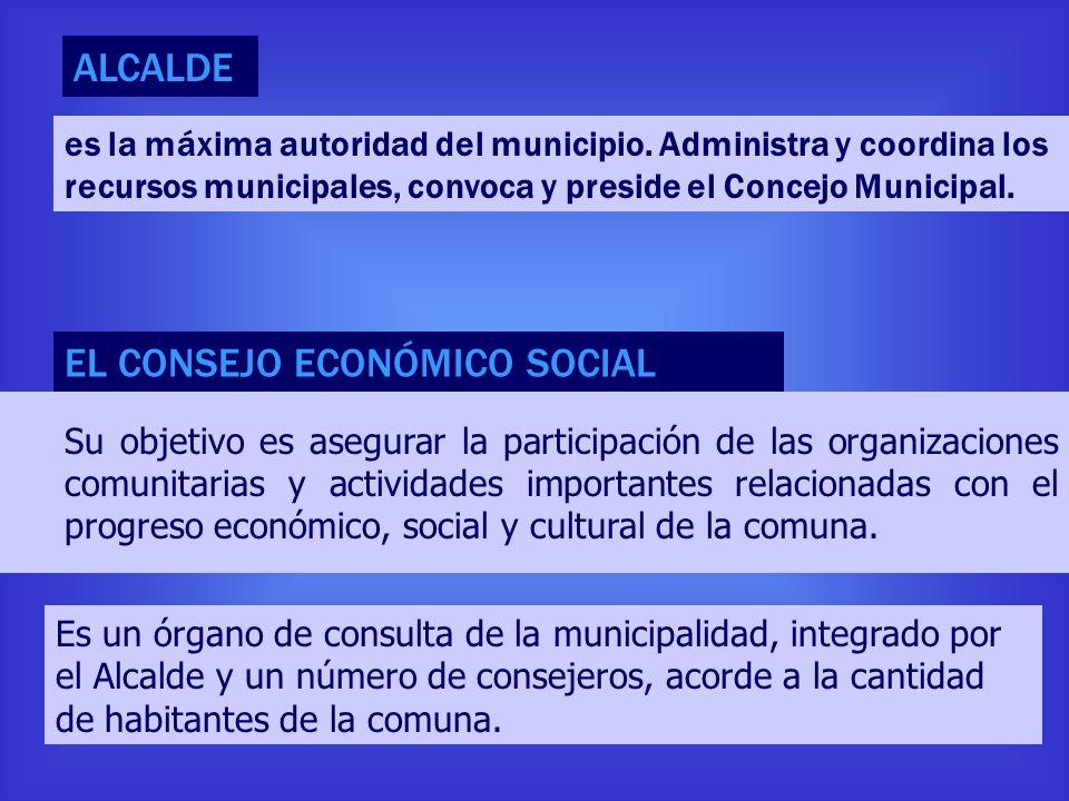 Su objetivo es asegurar la participación de las organizaciones comunitarias y actividades importantes relacionadas con el progreso económico, social y