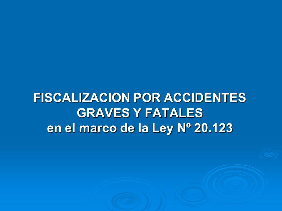 FISCALIZACION POR ACCIDENTES GRAVES Y FATALES en el marco de la Ley Nº 20.123