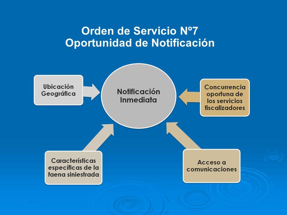54 Orden de Servicio Nº7 Oportunidad de Notificación