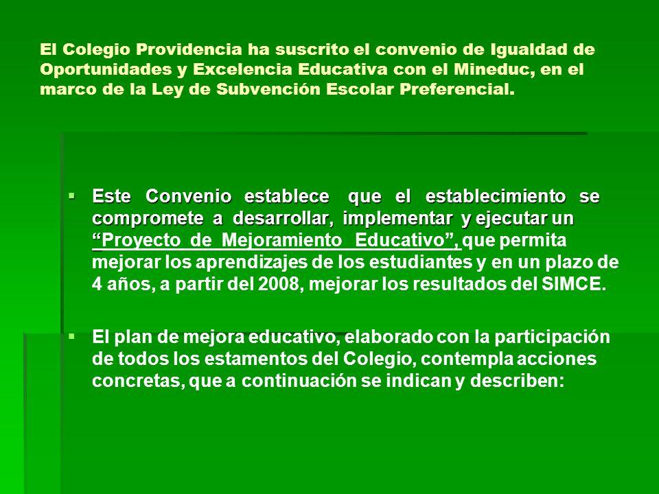 El Colegio Providencia ha suscrito el convenio de Igualdad de Oportunidades y Excelencia Educativa con el Mineduc, en el marco de la Ley de Subvención