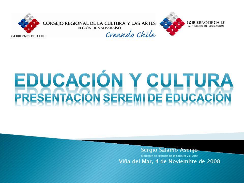 Fomento a la Creatividad en el Tiempo Escolar Sergio Salamó Asenjo Magister en Historia de la Cultura y el Arte Viña del Mar, 4 de Noviembre de 2008