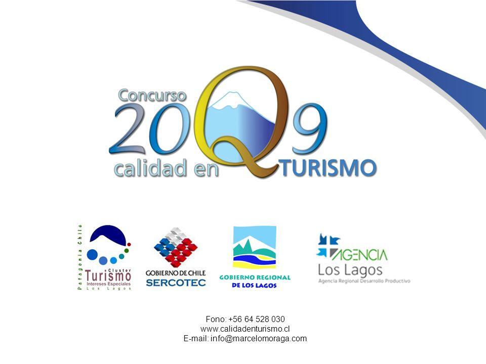 Fono: +56 64 528 030 www.calidadenturismo.cl E-mail: info@marcelomoraga.com