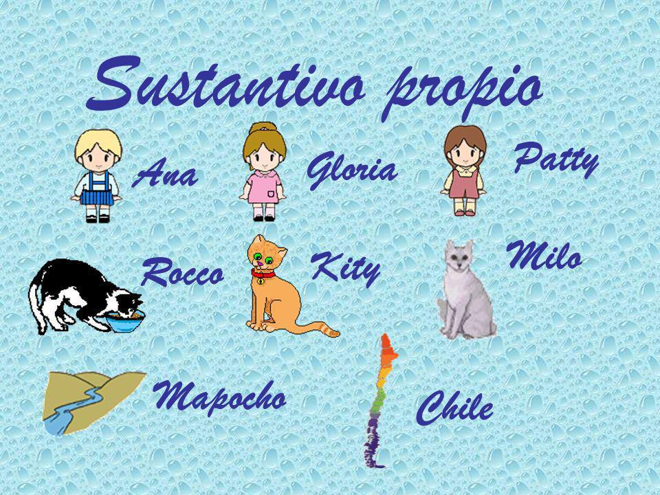 El sustantivo propio sirve para nombrar a personas, animales y cosas individualizándolas.
