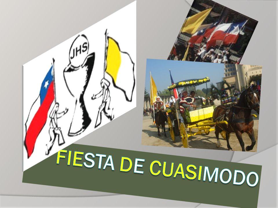Cuasimodo es una expresión de religiosidad popular característica de la zona central de Chile que se celebra, desde la época de la Colonia, el domingo siguiente a la Pascua de Resurrección.