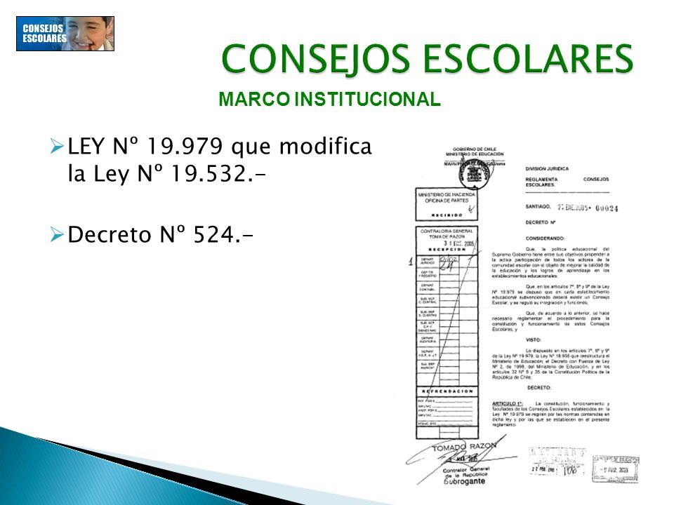 LEY Nº 19.979 que modifica la Ley Nº 19.532.- Decreto Nº 524.-