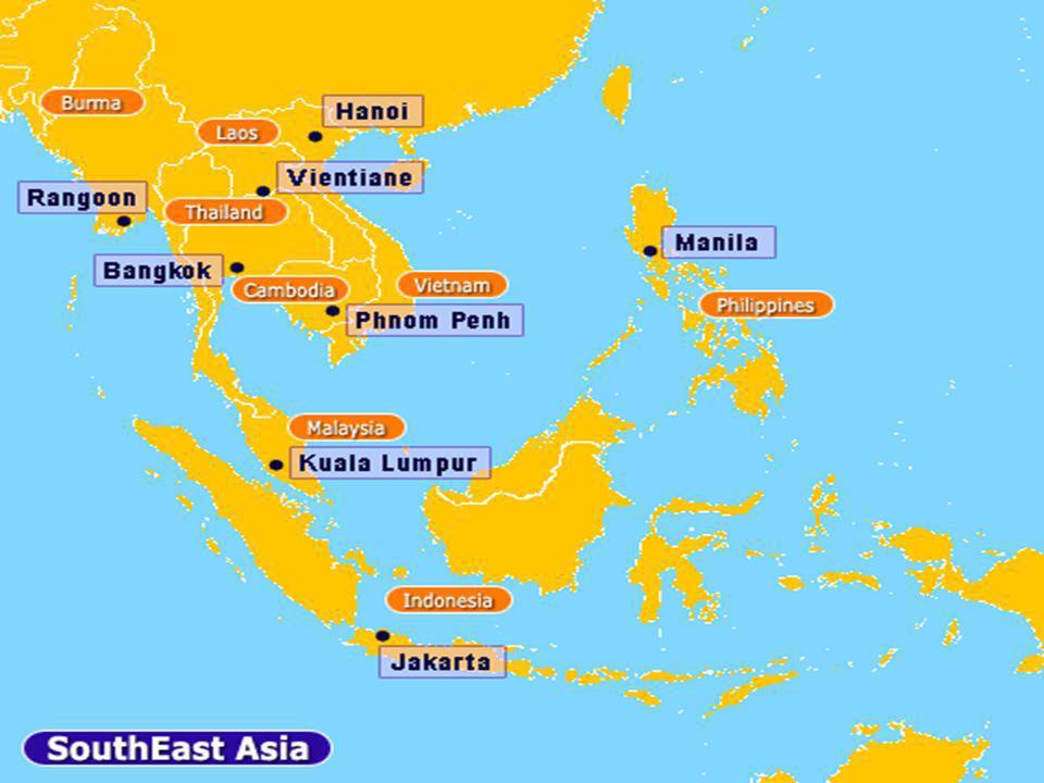 Demografía: En total, la superficie del Sureste Asiático asciende a unos 4.000.000 km².