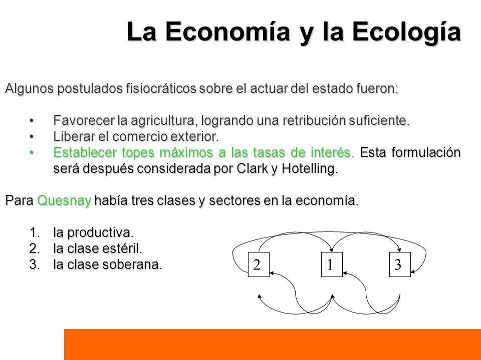 Algunos postulados fisiocráticos sobre el actuar del estado fueron: Favorecer la agricultura, logrando una retribución suficiente.Favorecer la agricul