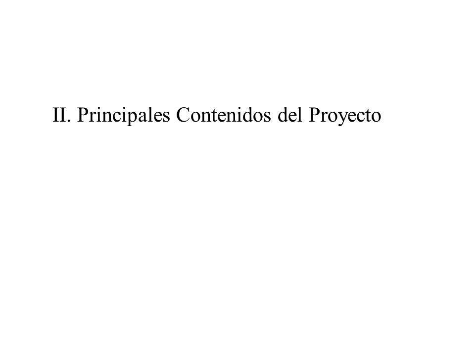 II. Principales Contenidos del Proyecto