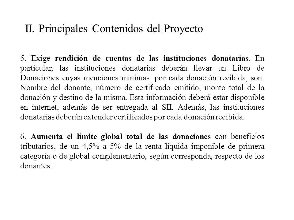 5. Exige rendición de cuentas de las instituciones donatarias.