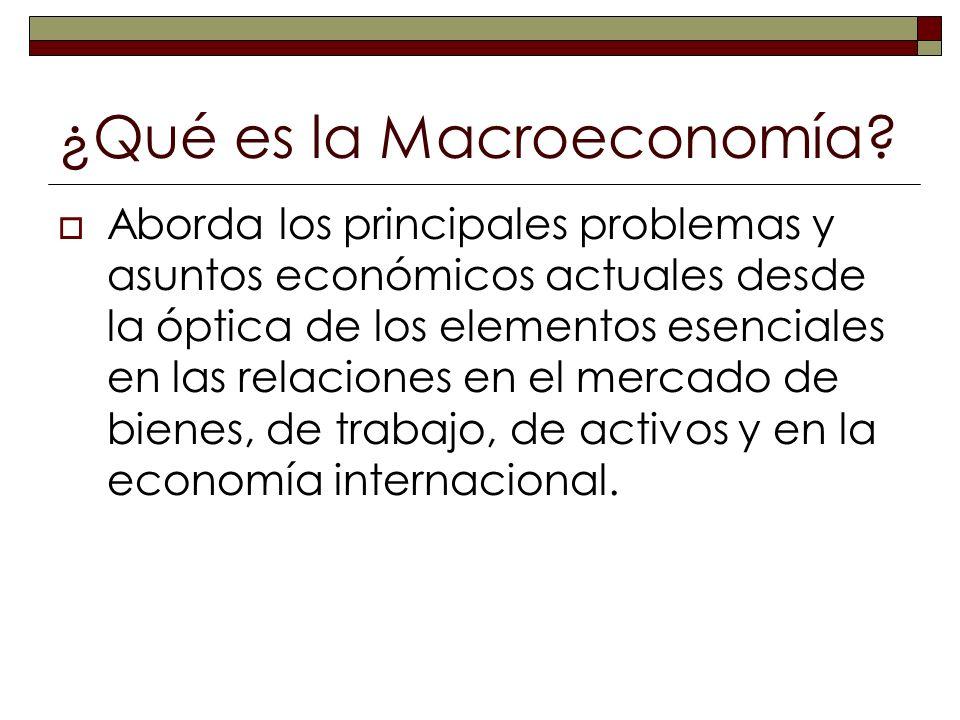 ¿Qué es la Macroeconomía? Aborda los principales problemas y asuntos económicos actuales desde la óptica de los elementos esenciales en las relaciones